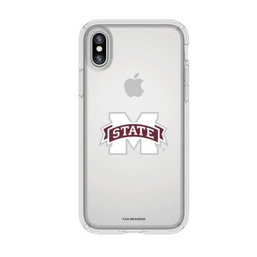 IPH-X-CL-PRE-MSST-D101: FB Mississippi St iPhone X Presidio Clear